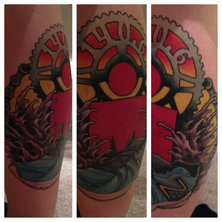 Finished Product 2 days later.  Some swelling has gone down. Still some healing to go!