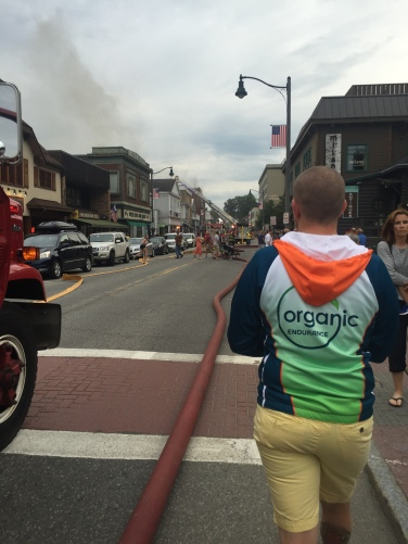 Walking toward the fire