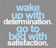 Determination : Satisfaction